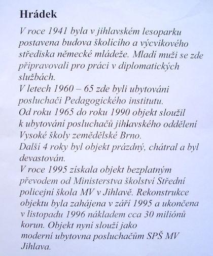 historie Hrádku