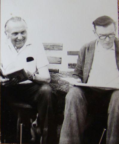 stará fotografie zachycuje vlevo Michaela Floriana, vpravo je Gabriel Florian; foto Mgr. Pavel Kryštof Novák