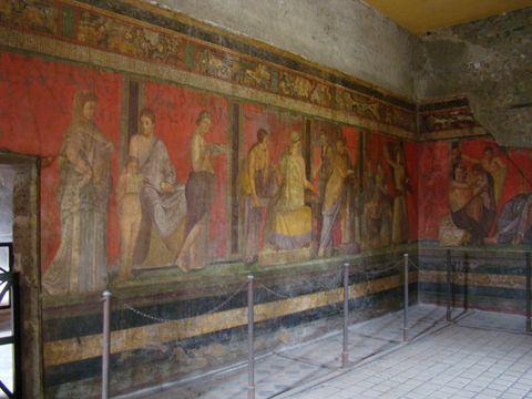 sál s freskami dionýských záhad 1