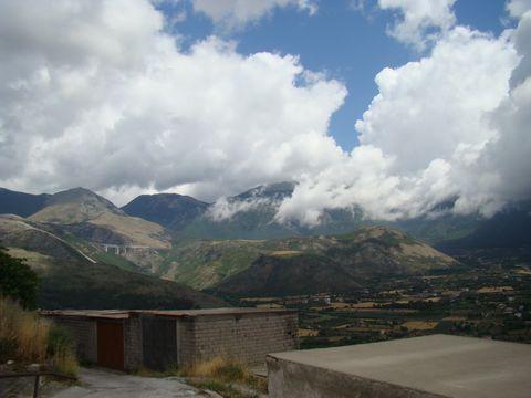 dramatická oblaka nad Monte Pollino