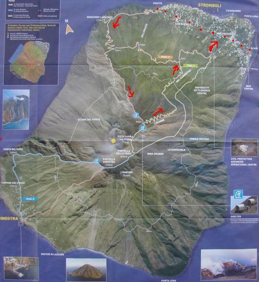 nákres cesty na Stromboli 2
