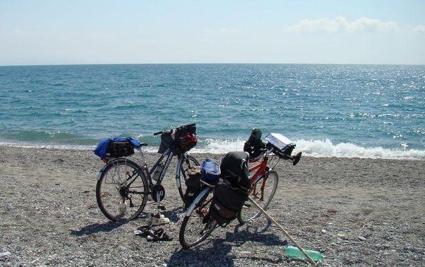 odpočinek u zálivu Santa Eufémia