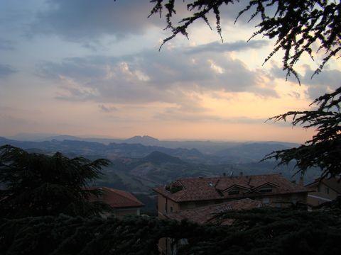 krajina v okolí San Marina