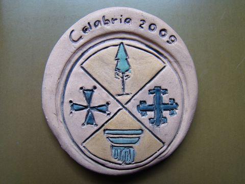 keramická medaile za účast na expedici
