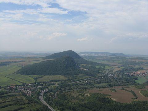 výhled z Bořně na ®elenický vrch