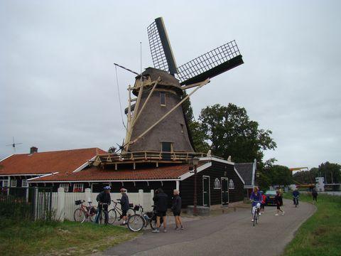 mlýn na předměstí Amsterdamu