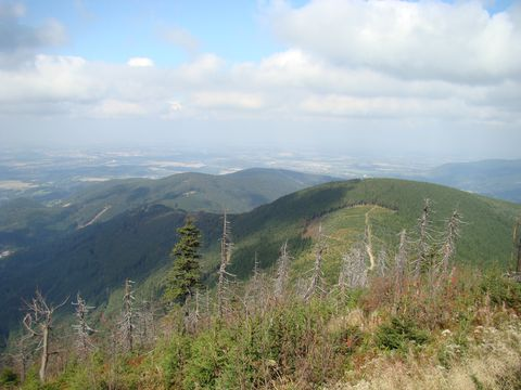pohled z Lysé hory na sever