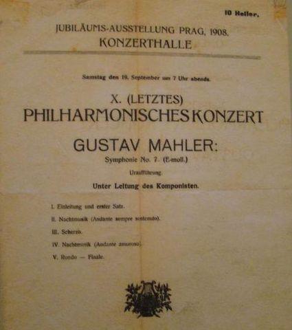 program koncertu GM v němčině