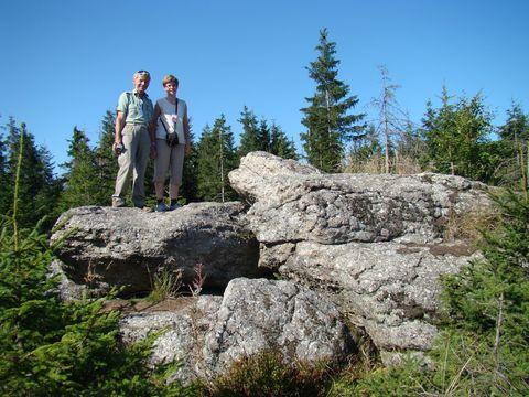 skalnaté partie na vrcholu Myslivny