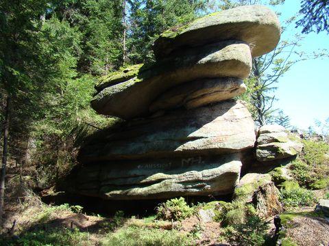 skalní útvar zvaný Klobouk