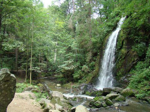 umělý vodopád v Terčině údolí