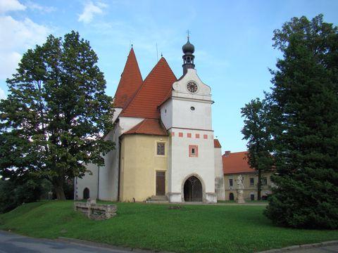 kostel několika slohů v Horní Stropnici