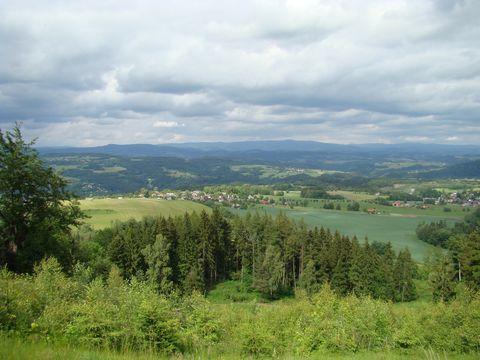 výhled z Hamstejnského hřebene