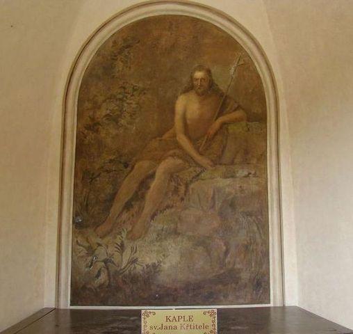 obraz sv. Jana Křtitele na Valdstejně