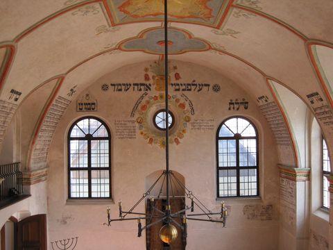východní stěna synagogy