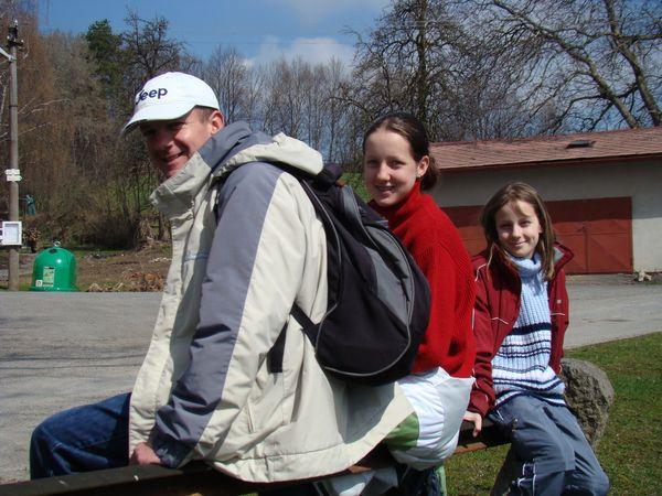 mladí turisté z Tábora