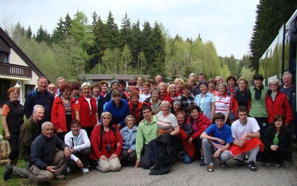 účastníci zájezdu do Harrachova
