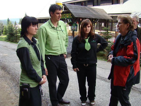 persolál hotelu Lovecká Mumlava s vedoucí zájezdu