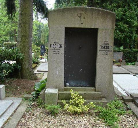 hrob Theodora Fischera na katolickém hřbitově