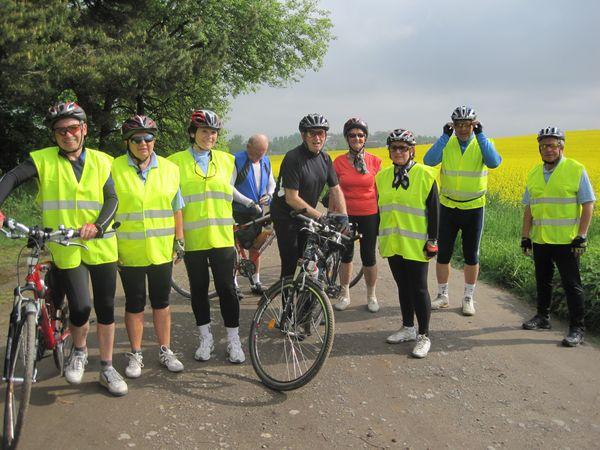 skupina cyklistů z Čeřínku