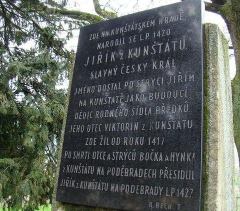 Jiří z Poděbrad se narodil v Kunstátu