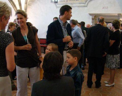 dirigent Charles Olivieri-Munroe s manzelkou a dětmi