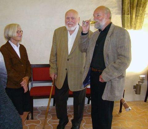 sochař Jan Kolblasa s přítelem a spolupracovníkem Jaroslavem Řehnou