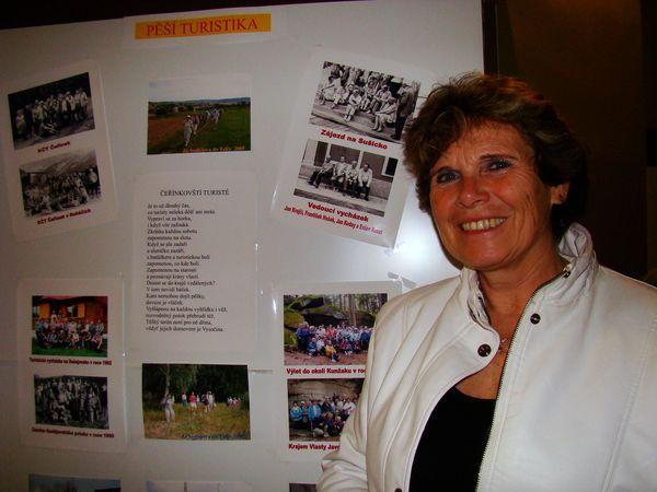 jedna z autorek výstavy, Věra Veselá