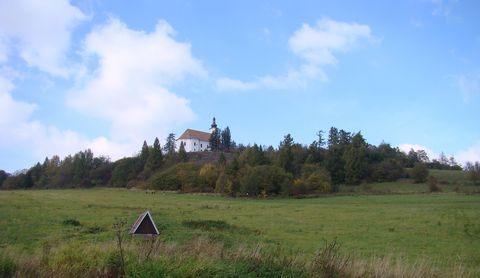 kostel na Uhlířském vrchu