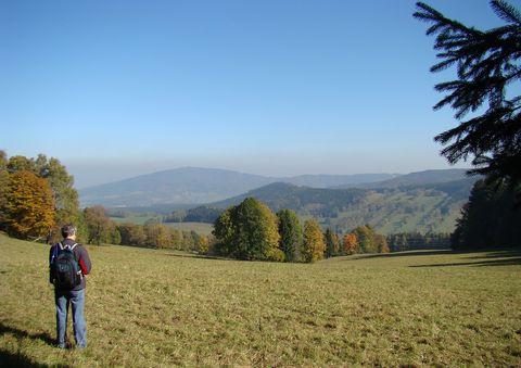 výhled z Ondřejovického sedla