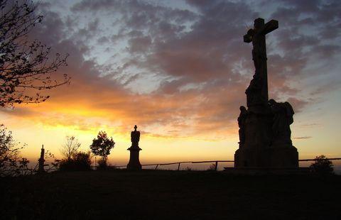 večerní romantika na Křížovém vrchu