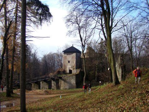 zříceniny hradu Lukov jsou velmi rozsáhlé