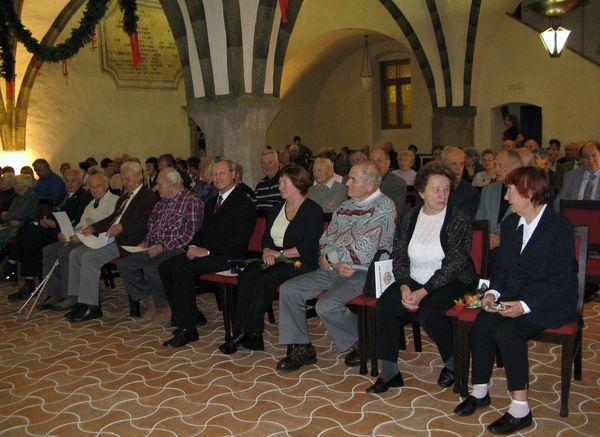 slavnostní shromázdění v gotické síni jihlavské radnice