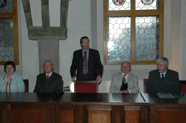 Marie Vincencová, Jan Havelka, primátor Jihlavy, Jan Stráský, Jiří Veselý