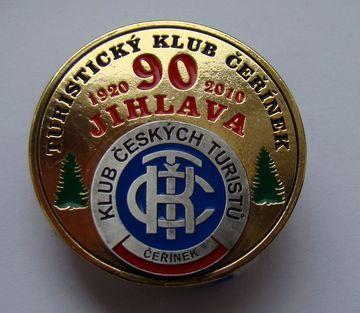 velká medaile k 90. výročí zalození KČT Čeřínek