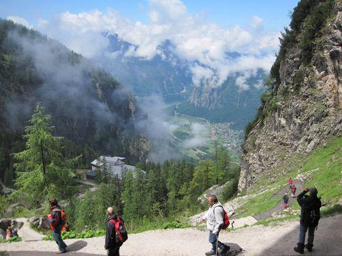 údolí Traunu od východu z Ledové jeskyně