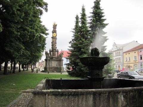 na náměstí v Polné