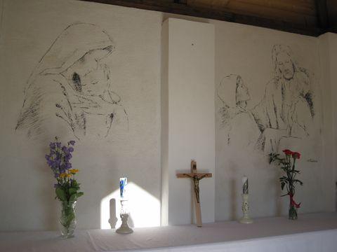 vnitřek kaple Panny Marie u Antonínova Dolu