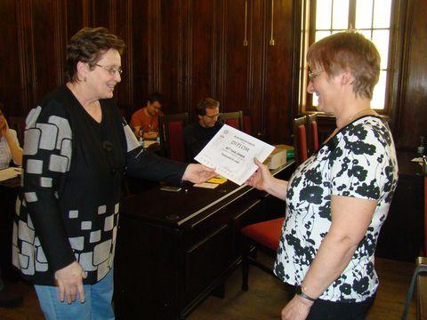 předání diplomů pořadatelům akcí