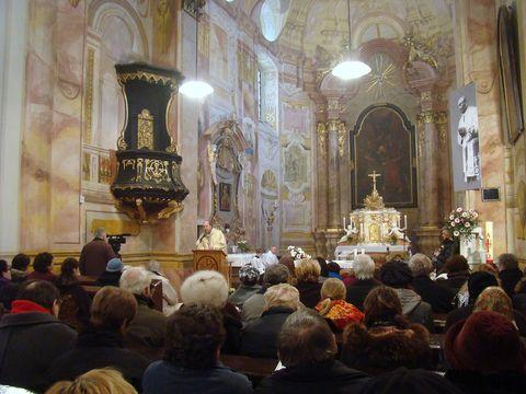 mše v tasovském kostele