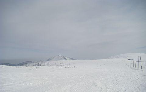 Sněžka a Luční bouda ze Stříbrného návrší