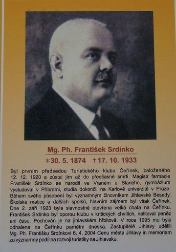 Mg.Ph. František Srdínko v Síni slávy