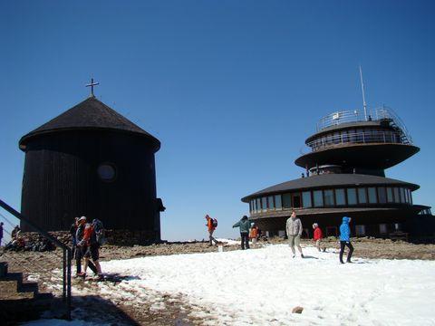 kaple a restaurace na Sněžce