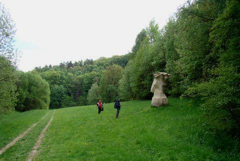 turisté u Trnové koruny