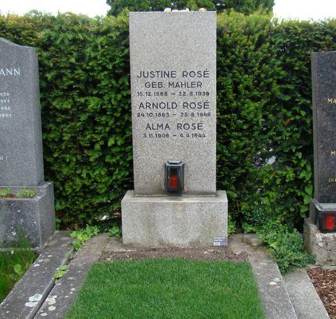 hrob Justiny Mahlerové a její rodiny