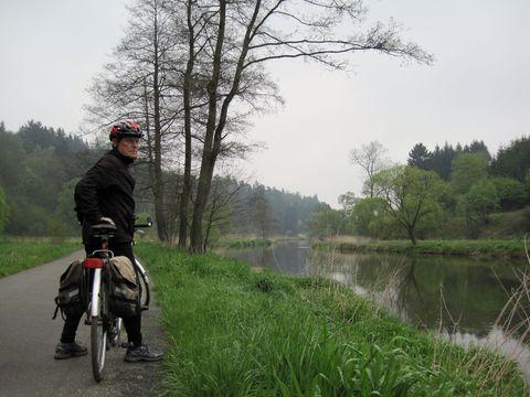 na cyklostezce u řeky Jihlavy