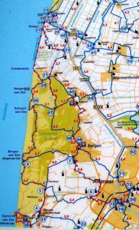 mapka části západního pobřeží