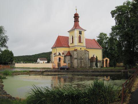 kostel sv. Jana Křtitele v Mladém Bříšti