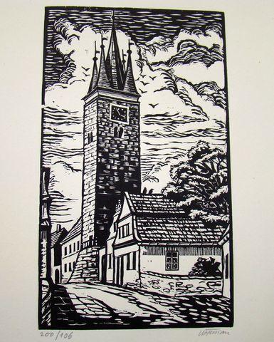 věž svatého Ducha v Telči
