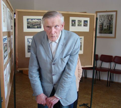 pan Gabriel Florian byl potěšený, když viděl práce svého bratra